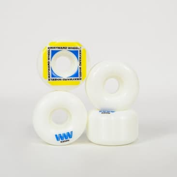 Wayward Wheels - 52mm (101a) H-Cut Waypoint Skateboard Wheels - White / Yellow