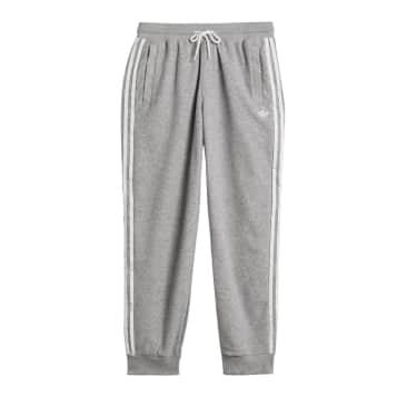 Adidas Boucle SST Track Pants - Medium Grey Heather/White
