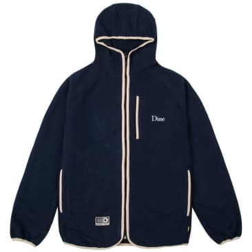 Dime Polar Fleece Hooded Jacket - Navy
