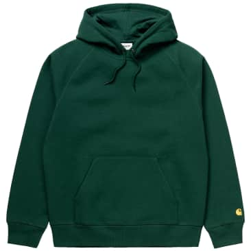 Carhartt WIP Hooded Chase Sweatshirt - Treehouse / Gold
