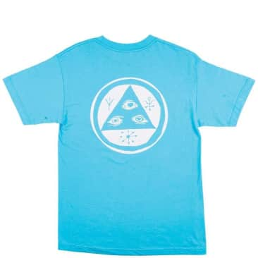 Welcome Skateboards Talisman Mono T-Shirt - Blue / White Puff Print