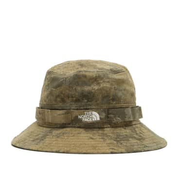 The North Face Class V Brimmer Bucket Hat - Military Olive Cloud Camo Wash Print