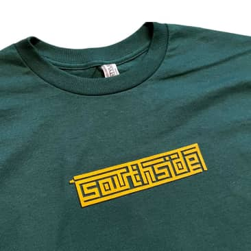 Southside Tee Maze Box Forest Gold Print