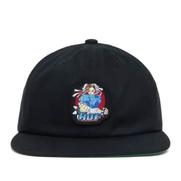 HUF x Street Fighter Chun-Li Snapback - Black