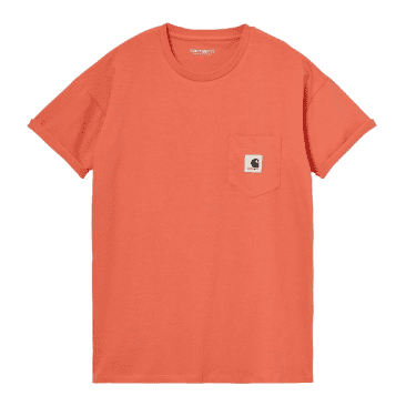 Carhartt WIP Women's Pocket T-Shirt - Shrimp