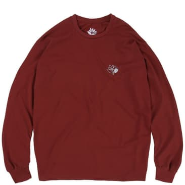 Magenta Skateboards Outline Long Sleeve T-Shirt - Burgundy