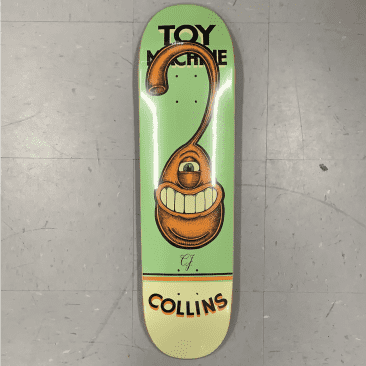 Toy Machine Skateboards Collins Pen N Ink Deck 8.25