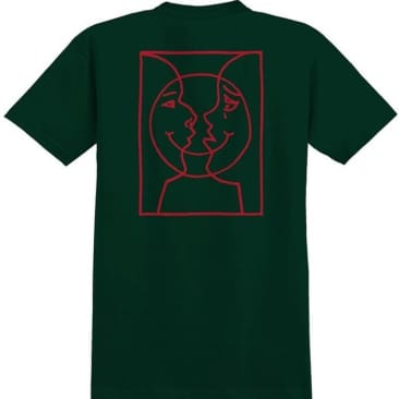 Krooked T-Shirt Moon Smile Forrest Green