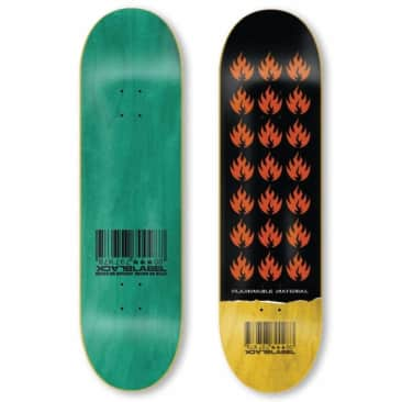Black Label Skateboards Flammable Material Skateboard Deck - 9.00