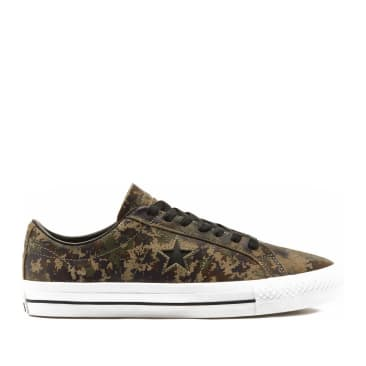 Converse CONS Digi Camo One Star Pro Shoes - Velvet Brown / Herbal / White