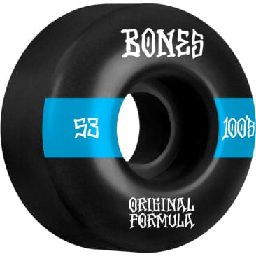 Bones 100's V4 Wide 53mm Wheels (Black)