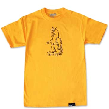 Fifty Fifty Store Gonz T-Shirt - Gold