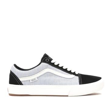 Vans x Federal Old Skool Pro Shoes - Black / Blue Pinstripe
