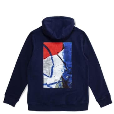 Poetic Collective Painting Hoodie - Navy