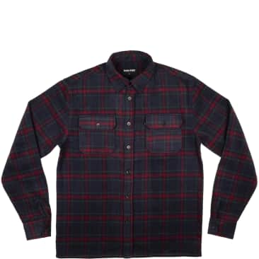 Pass~Port Workers Flannel Long Sleeve Shirt - Navy