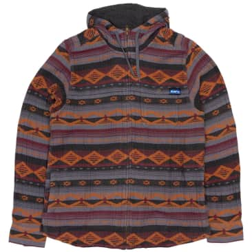 Kavu Manta Zip Hooded Jacket - Sunset Stripe