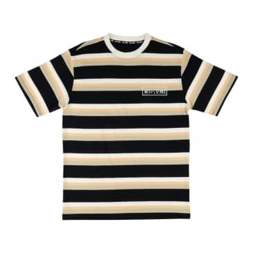 WELCOME Medius Stripe Knit Tee Black/Sand