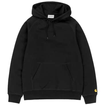Carhartt WIP Hooded Chase Sweatshirt - Black/Gold