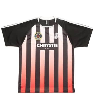 Chrystie NYC Stripe Soccer Jersey - Red / Black