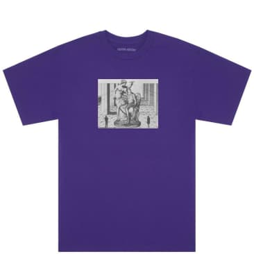 Fucking Awesome Perspective Statue T-Shirt - Purple