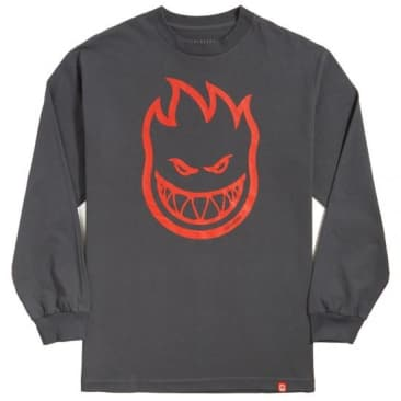 Spitfire Bighead L/S Youth T-Shirt (Charcoal/Red)