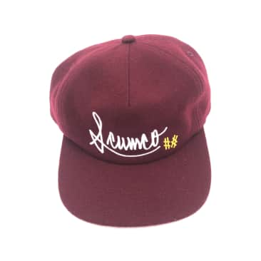 Scumco & Sons- Baseball Hat Burgundy