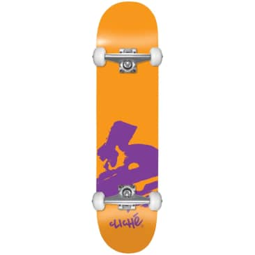 "Cliche - 7.875"" Europe First Push Complete Skateboard (Orange)"