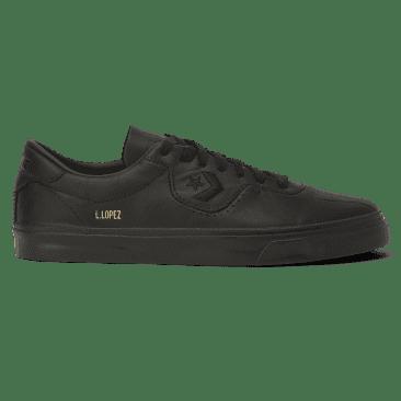 Converse Cons Leather Louie Lopez Pro Skateboarding Shoes - Black/Black/Black