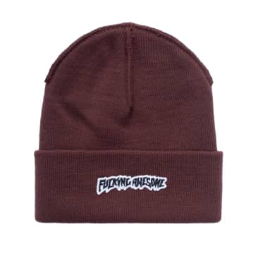 Fucking Awesome Beanie Little Stamp Cuff Brown