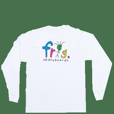 Frog Frog Man Logo Long Sleeve T-Shirt - White