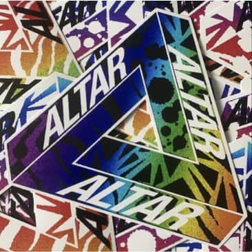 Altar One Tooth Black Sticker (3x Pack)