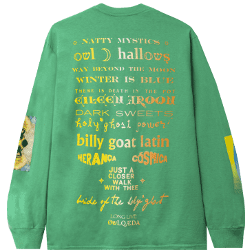 Real Bad Man Warbles Tribute Long Sleeve T-Shirt - Funk Green