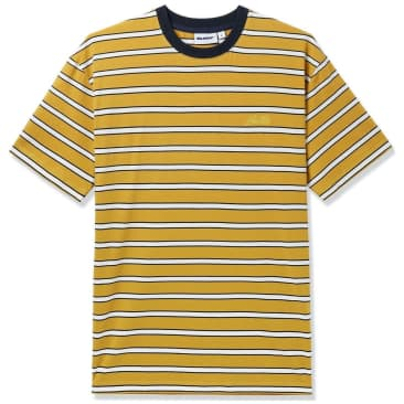 Butter Goods Beach Stripe T-Shirt - Mustard