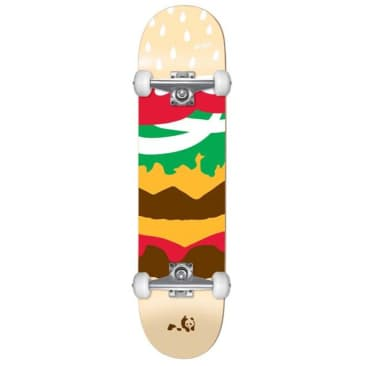 Enjoi Burger Time Youth First Push Multi 7.375 Complete Skateboard MID