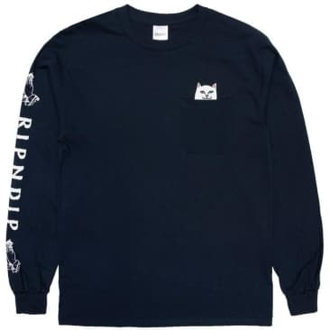 Ripndip Lord Nermal Long Sleeve T-Shirt - Navy