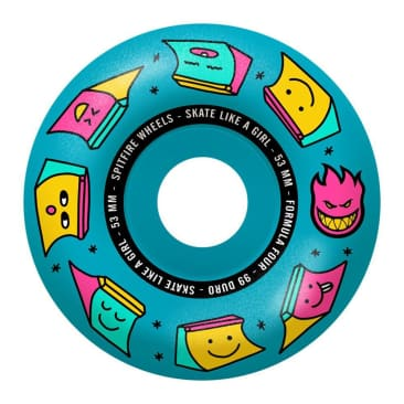 Spitfire Wheels - Skate Like A Girl Formula Four Radials Wheels 99a 53mm