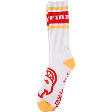 Spitfire OG Classic Crew Socks - (Heather white/Red/Yellow)