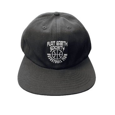 Cold World - Flat Earth Baketball Team Hat (Black)