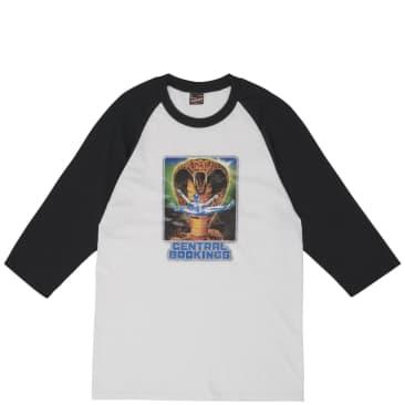 Central Bookings Torture Baseball T-Shirt - White / Black