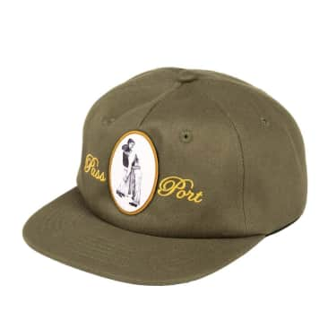 Pass~Port Lean On Me 5-Panel Cap - Olive