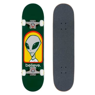 Alien Workshop Believe Green Complete Skateboard - 7.75""