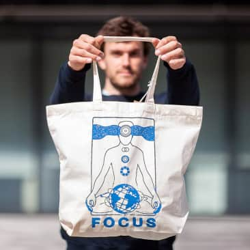 Focus Atlas/Cosmic Tote Bag - Natural