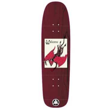 """Welcome Skateboards Unholy Driver on Son of Golem Dark Red Stain 8.75"""""""