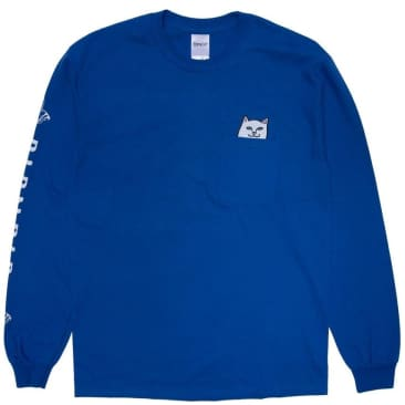 Ripndip Lord Nermal Long Sleeve Pocket T-Shirt - Royal Blue