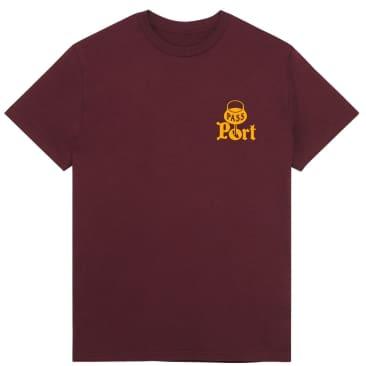 Pass~Port Port T-Shirt - Burgundy