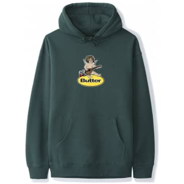 Butter Goods Angel Badge Hoodie - Forest Green