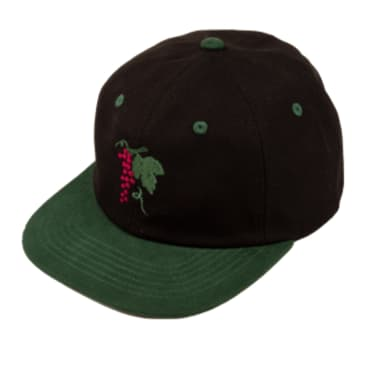 Pass~Port Life Of Leisure 6 Panel Cap - Forest Green / Black