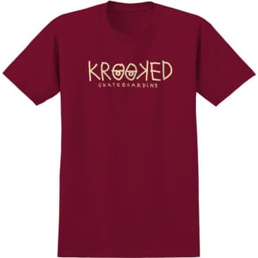 Krooked Eyes Cardinal/Cream Tee