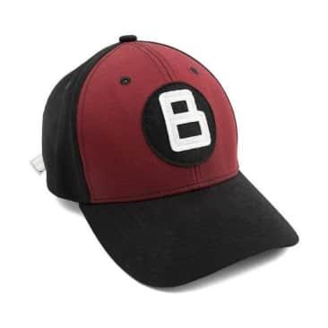 Bronze 56K 8 Ball Strapback Hat Red - Black