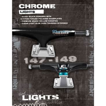Thunder Light Chrome Trucks (Black/Polished) - (147 & 149) (Sold as a set)